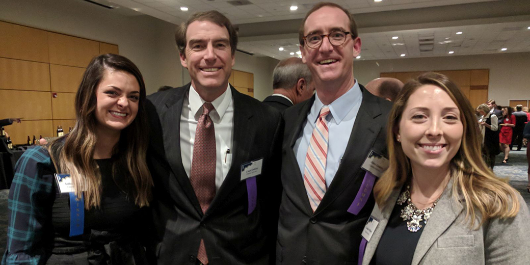 Ashlee Wagner (left) with 40 Under Forty alums Chad Oakley, Allen Oakley and Caroline Wilson