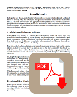 Womenomics Diversity on Boards of Directors - pdf download